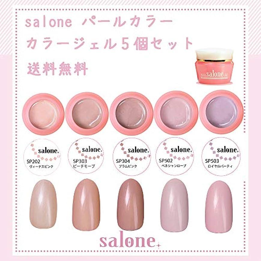 層探検分注する【送料無料 日本製】Salone パールカラー カラージェル5個セット アンニュイなパールカラー