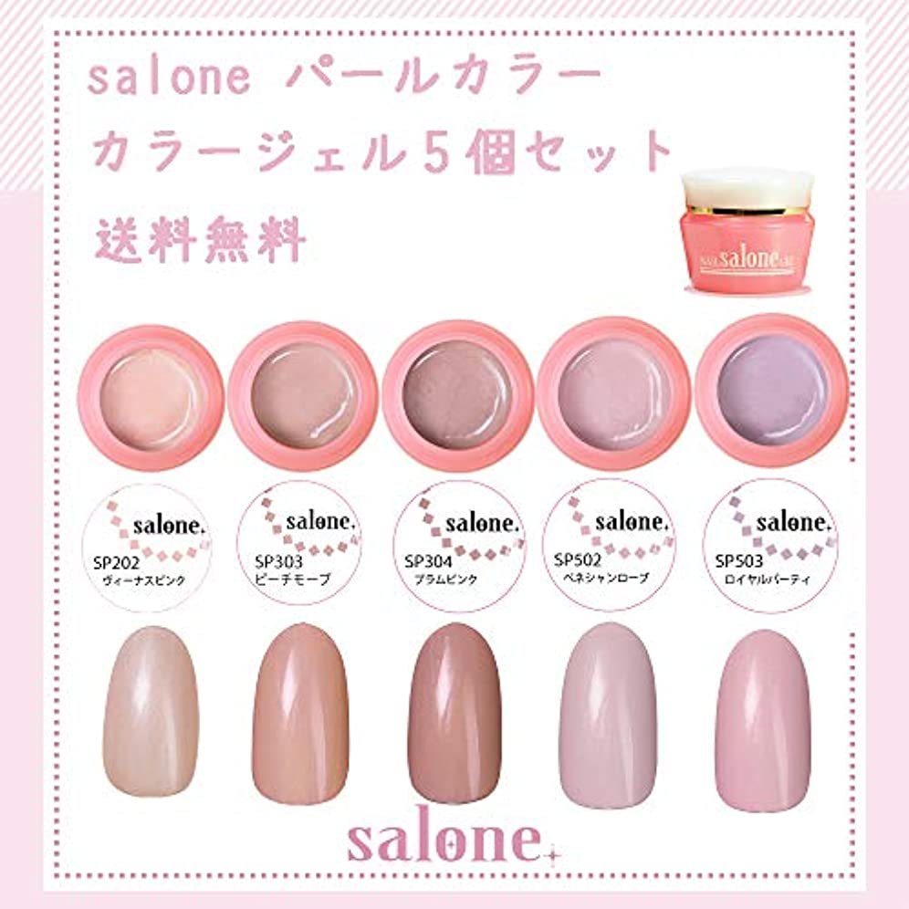 しなやかな小間小さい【送料無料 日本製】Salone パールカラー カラージェル5個セット アンニュイなパールカラー
