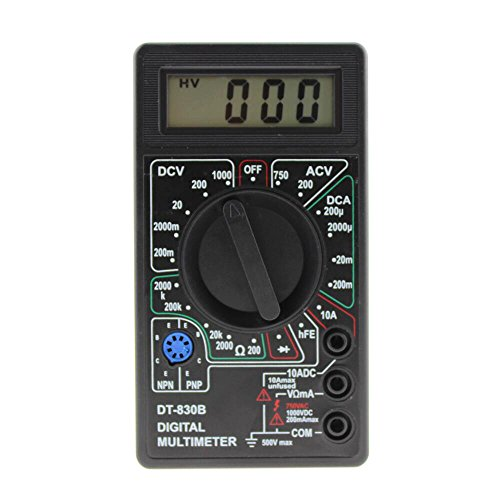 OBEST 小型 デジタルテスター マルチメーター LCDスクリーン 抵抗 電池残量 断線 DT-830B LCDディスプレイ多機能デジタルマルチテスター機器ツールDT-830B