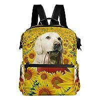 AOMOKI バッグ リュック リュックサック メンズ レディース 通勤 通学 大容量 ひまわり 犬