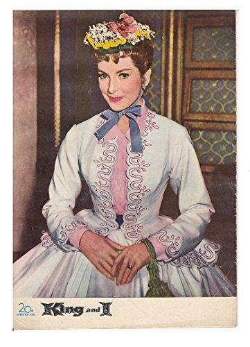 1950年代「映画プログラム王様と私-B」ユル・ブリンナー、デボラ・カー