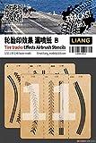 リアンモデル エアブラシ用タイヤ痕ステンシルB 1/32・1/35・1/48 ミニチュア用ツール LIANG-0011