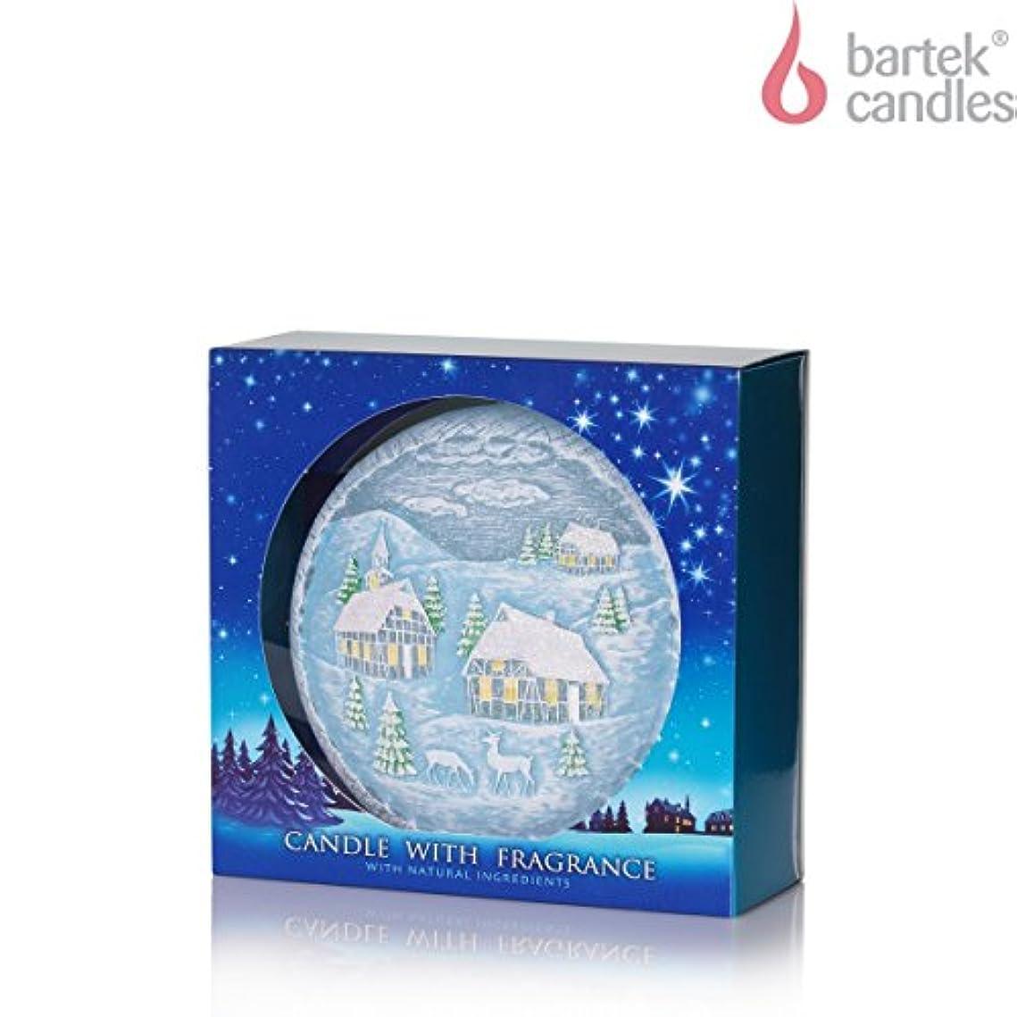 終了するプレゼンター観点Candle with Fragrance Aromatic Winter ブルー Winter Christmas Disc