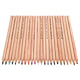 ノーブランド品 24色セット 色鉛筆 お絵描き 鉛筆 木製 スケッチ 非毒性 贈り物 描画
