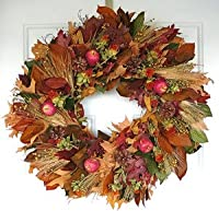 Amber Harvest Apple Wreath Dried Fall Wreath