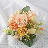 花由 プリザーブドフラワー の コサージュ シトラス(オレンジ系)【結婚式 フォーマル ブリザードフラワー 卒業式 入学式】