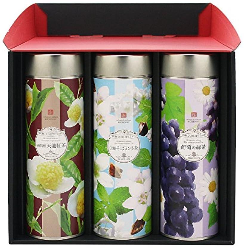 ランダム橋わざわざお茶ギフト「ファッションティー」(天龍紅茶?信州そばミント茶?葡萄の緑茶)×3本