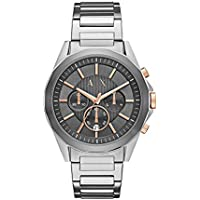 Armani Exchange Silver-Tone Stainless Steel Watch AX2606