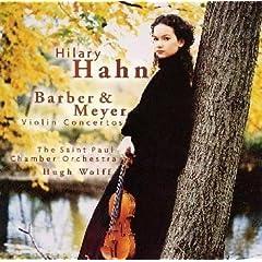 ハーン独奏 バーバー&メイヤー ヴァイオリン協奏曲の商品写真