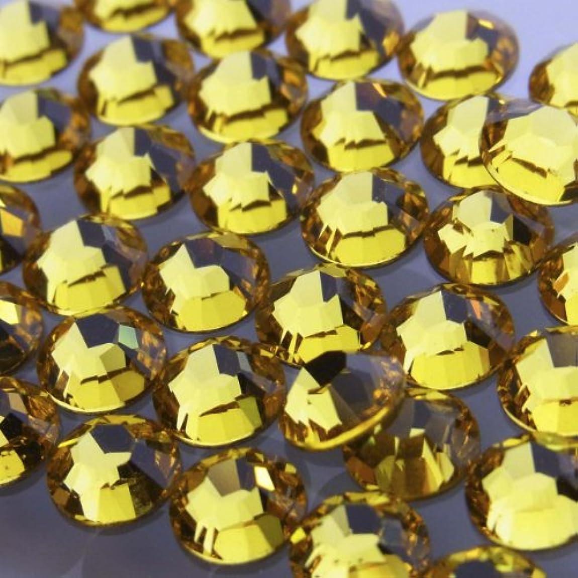 お茶肝パンチHotfixライトトパーズss6(100粒入り)スワロフスキーラインストーンホットフィックス