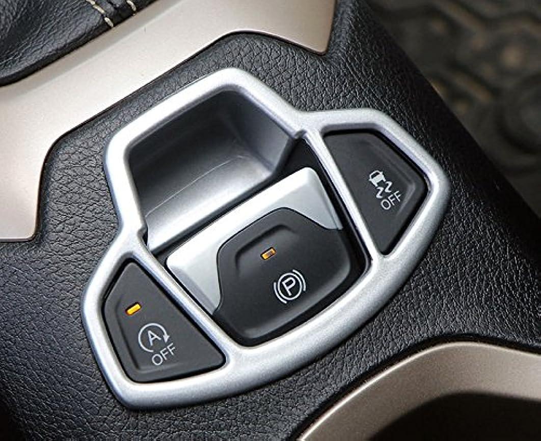 論理的カセット可能にするJicorzo - 1pc ABS Car Electronic Handbrake Decorative Cover Trim for Jeep Renegade 2015-2018 Car Interior Accessories...