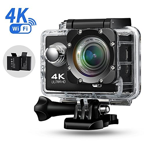 Ispring アクションカメラ 4K 30M防水スポーツカメラ WiFi搭載 170度広角スポーツカメラ