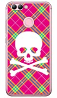 SECOND SKIN スカルパンク ピンク (クリア) / for HUAWEI nova 2 HWV31/au AHWV31-PCCL-201-Y218