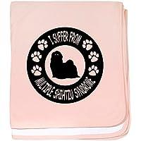 CafePress – シーズー – スーパーソフトベビー毛布、新生児おくるみ ピンク 05061357896832E