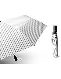 自動雨と太陽の二重使用自動折りたたみ傘日焼け止め (色 : 白)