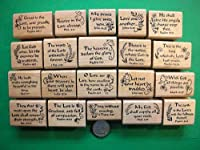 OutletBestSelling 20 聖書スタンプ 木製マウント セット #2