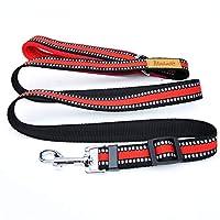 KTYX 反射犬のロープのベストスタイルハイエナのチェーンゴールデンレトリーバー犬の胸ストラップ牽引ロープ大犬のペットの胸ストラップ、赤、青 ペットチェーン (色 : Red, サイズ さいず : L l)
