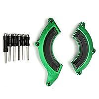 川崎Z900オートバイの耐破壊ブロックエンジンエンジン保護ブロックカバークラッシュ,Green