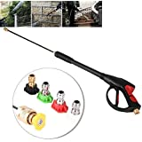 【2021 New Year's Special】GOTOTOP Pressure Washer Gun 4000 Psi Spray Gun With Extension Wand 5 Nozzles For Car Pressure Power