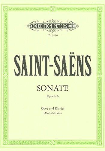 サン・サーンス : ソナタ 作品166 (オーボエ、ピアノ) ペータース出版