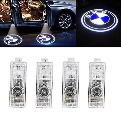Grolish 4-Pack Car Door LED Lighting Logo Projector Door Step Courtesy Light