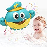 J&K Bubble Bath Toy Automatic Octopus Bubble Machine Blowing Bubble Maker with Nursery Rhyme Music for Baby and Kids Bath or
