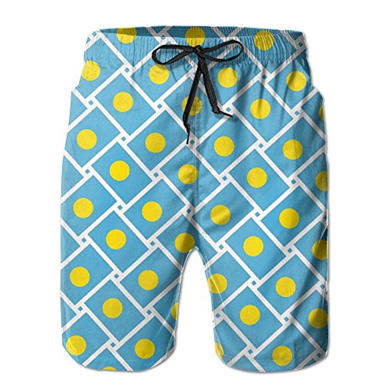 パラオの旗 メンズ サーフパンツ 水陸両用 水着 海パン ビーチパンツ 短パン ショーツ ショートパンツ 大きいサイズ ハワイ風 アロハ 大人気 おしゃれ 通気 速乾