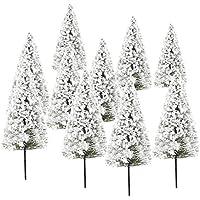 10本セット 杉木 白い花 樹木 木 モデルツリー 情景コレクションザ?鉄道模型?ジオラマ?建築模型?電車模型に  高さ10cm スケール:1:100
