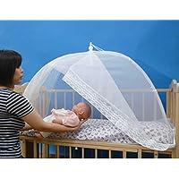 タナカ 日本製 ワンタッチ式 入口付ベビー蚊帳 無地 白 ベビーベッド 床畳用