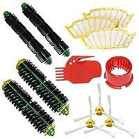 LOVE(TM)ブラシのクリーニングツール&ブリストルブラシ&柔軟ビーターブラシ&サイドブラシ3武装&フィルターは、For robotのルンバ500シリーズルンバ510、530、535、540、560、570、580、610真空掃除ロボットのためのメガキットパック