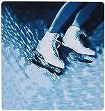 3dRose LLC 8?x 8?x 0.25インチマウスパッド フィギュアスケート スケート靴 (mp_1014_1)