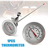 Warreal Brewing Thermometer, Beer Thermometer,Stainless Steel Probe,Thermometer Probe Stainless Steel Homebrew for Beer Wine Brewing Kettle.
