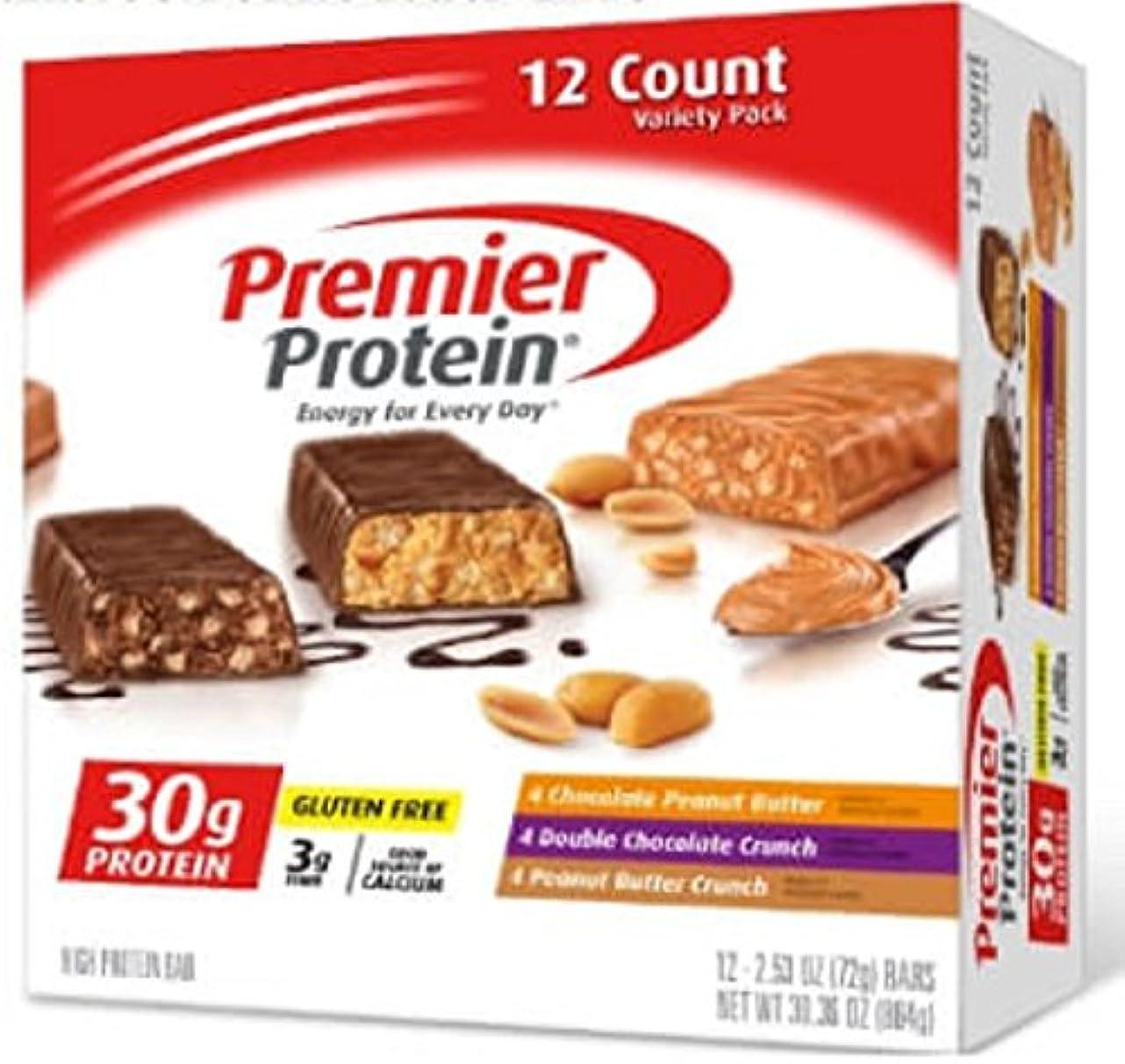 レザーコース露骨な【2箱セット】Premier Protein プレミア プロテイン プロテインバー バラエティパック(72g x 12本入り x 2箱)