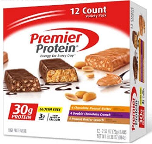 【2箱セット】Premier Protein プレミア プロテイン プロテインバー バラエティパック(72g x 12本入り x 2箱)