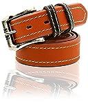 EDWIN(エドウィン) ベルト バックル ロゴ カラー ループ 革 牛革 メンズ ブラウン Free