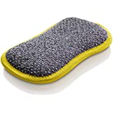 E-Cloth Washing Up Pad - Non-Scratch Kitchen Scrubber/Wiper - Brilliant for Removing Stuck-On Food from Pots & Pans - Yellow