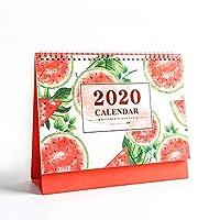 2020年卓上カレンダートロピカルフルーツ立ちデスクトップ日次 月次年次カレンダー デスクスタンドアップカレンダーは