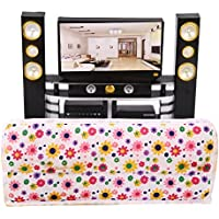 DSstyle Dollhouse TV Family Cinema Playset for Barbie Doll Pretend Play Toy Dolls Accessories Suitable for: 29cm doll