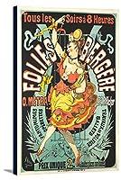 Folies–Bergere–O Metraヴィンテージポスター(アーティスト: Cheret , Jules )フランスC。1876 12 x 18 Gallery Canvas LANT-3P-SC-64812-12x18