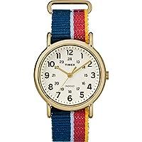 Timex Unisex TW2R101009J Weekender Multicolor Denim Slip-Thru Strap Watch