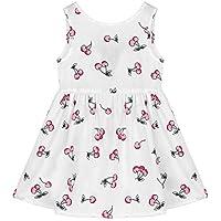 Everpert 10-11T Summer Fruit Cherry Girls Sleeveless Bowknot Backless Dress Costume