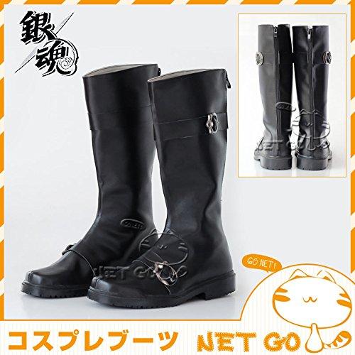 【高級コスプレブーツ 靴】【コスプレブーツ 銀魂 坂田銀時 ...