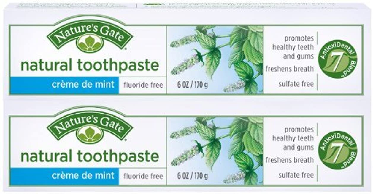 くぼみ政策インシュレータToothpaste-Creme De Mint Tube - 6 oz - Paste by Nature's Gate [並行輸入品]