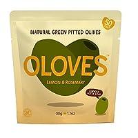 Olovesレモン&ローズマリーのマリネは、グリーンオリーブの30グラムをピットイン - Oloves Lemon & Rosemary Marinated Pitted Green Olives 30g [並行輸入品]