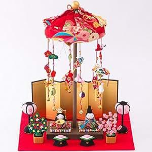 雛人形 卓上ミニ輪飾り 間口30cmx奥行25cmx高さ37cm