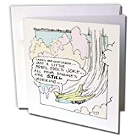 Londons Times Funny社会漫画–航空4月1Jokes–グリーティングカード Set of 6 Greeting Cards