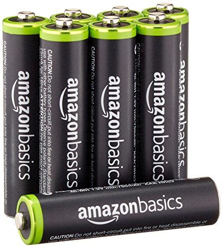 Amazonベーシック 充電式ニッケル水素電池 単4形8個パック (最小容量750mAh、約1000...