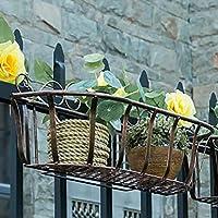フラワースタンドアイアンアートヨーロッパスタイルフェンス/手すり花吊りスタンド3サイズブロンズ (サイズ さいず : 50*18*18cm)
