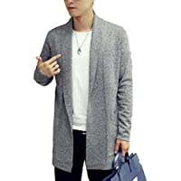 [meryueru(メリュエル)] ソリッド カラー スマート デザイン ミドル ニット カーディガン 春 秋 ボタンなし