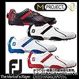 (フットジョイ) Footjoy M PROJECT Boa エム プロジェクト ボア ゴルフシューズ 25.5cm 55153(WH×BL)/M